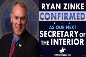 Western Caucus Supporting Ryan Zinke