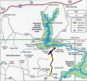 Flaming Gorge Map