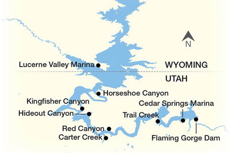 flaming Gorge Locations