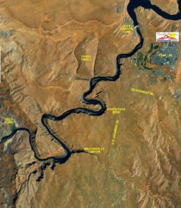 Lees Ferry & River Map