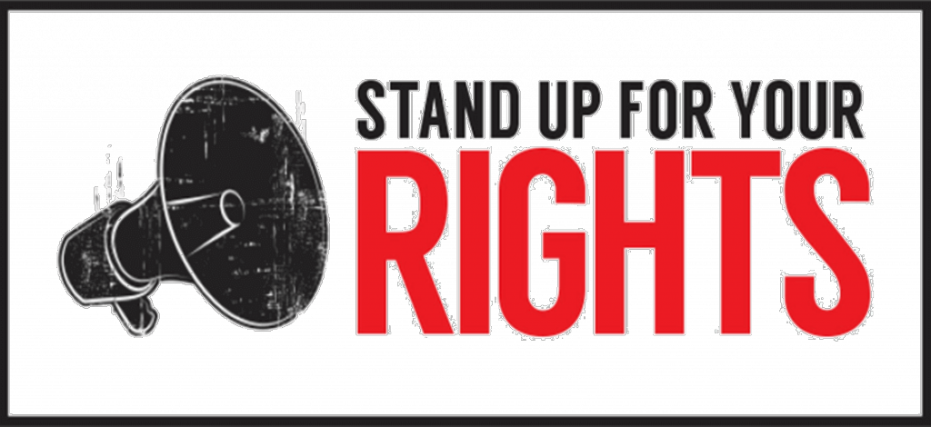 stand up for rights