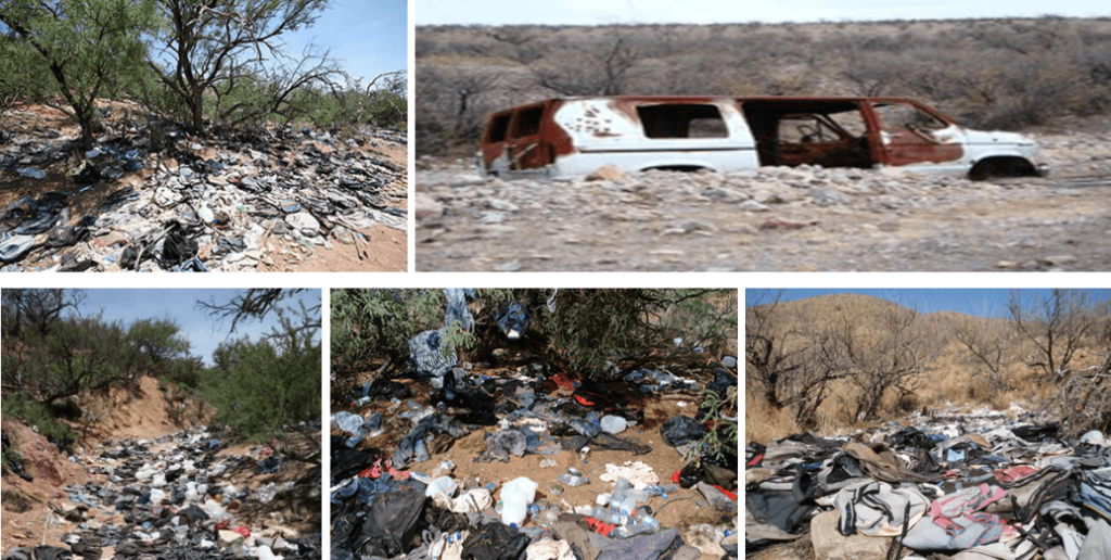 Trash on Arizona Border