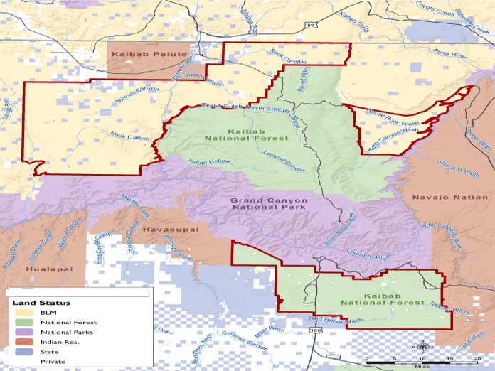 Arizona Federal Lands by Agency