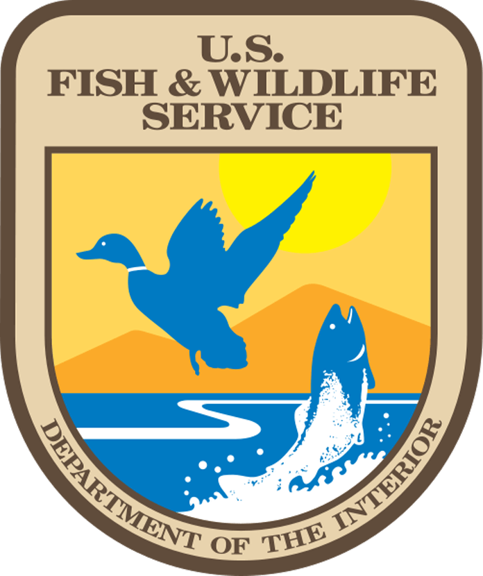 FISH /& WILDLIFE SERVICE PATCH GREEN DEPARTMENT OF THE INTERIOR U.S