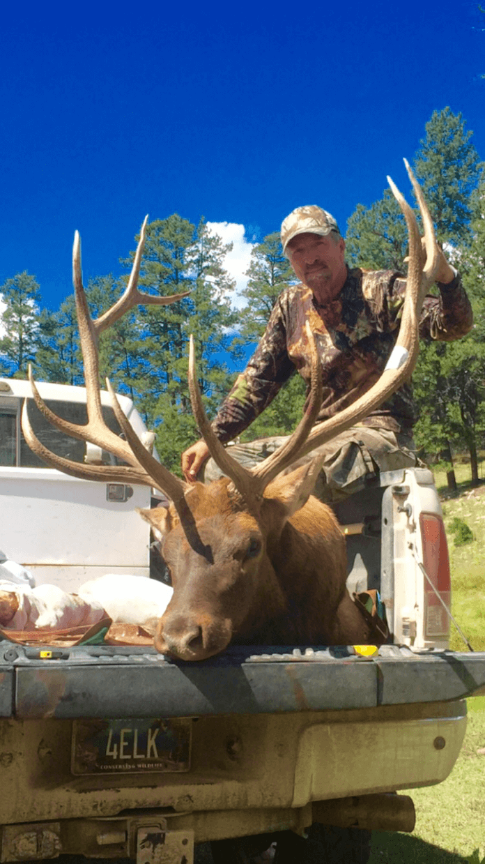 John Koleszar extracting a kill in Arizona Mogollon Rim Country