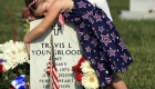 Girl on Vets Tombstone