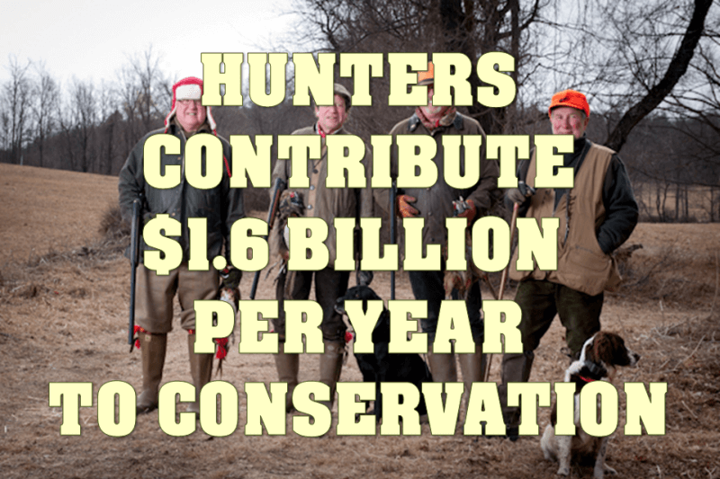 Hunters Contribute Yearly