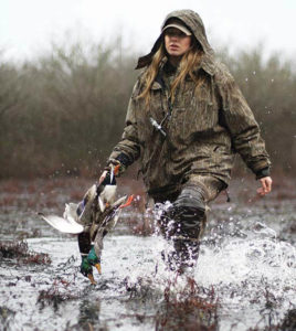 woman duck hunting