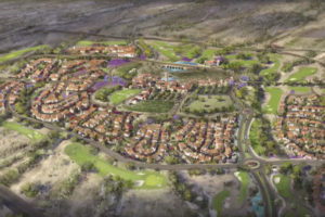 An artists rendition of a portion of the proposed Villages at Vigneto housing development.